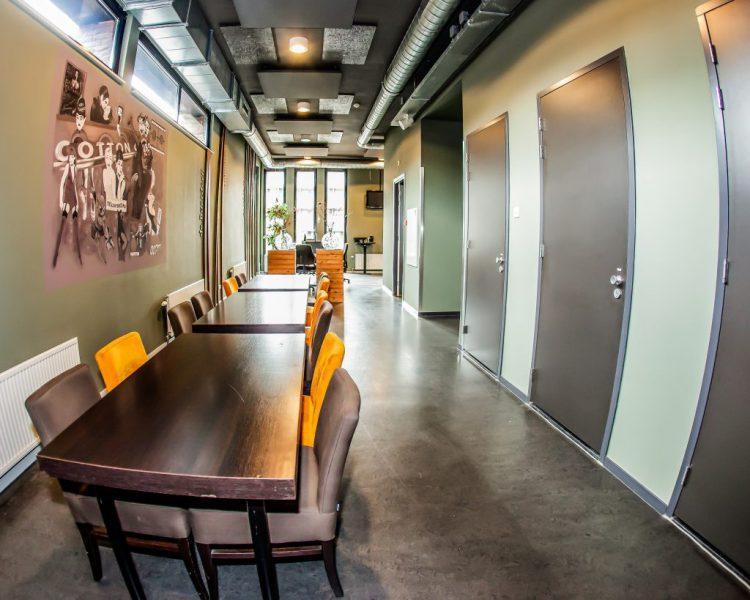 Artiestenfoyer een luxe foyer voor de artiesten, voor, tijdens en na de show.